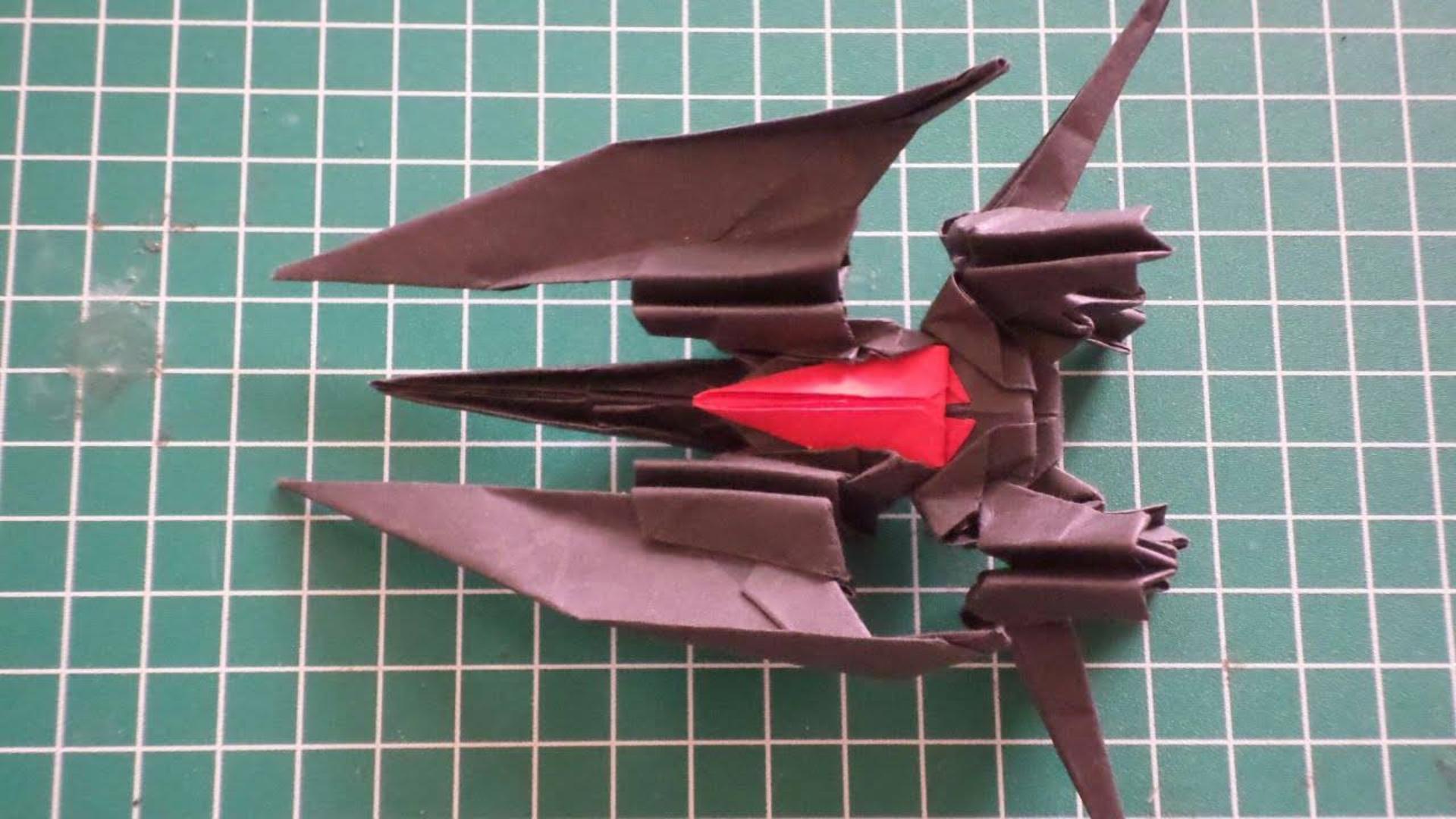 """组合折纸""""星际战斗机"""",颜值媲美几百元钱的手办!真帅!"""