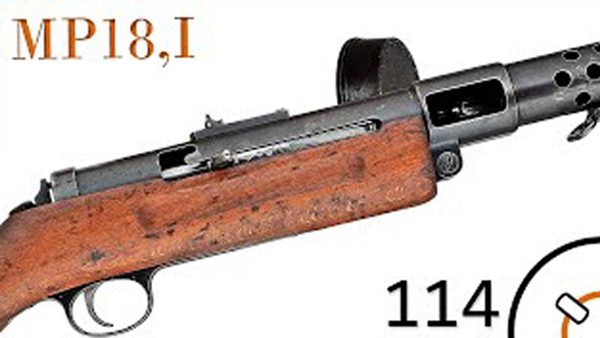 德国伯格曼MP.18/1冲锋枪介绍与射击