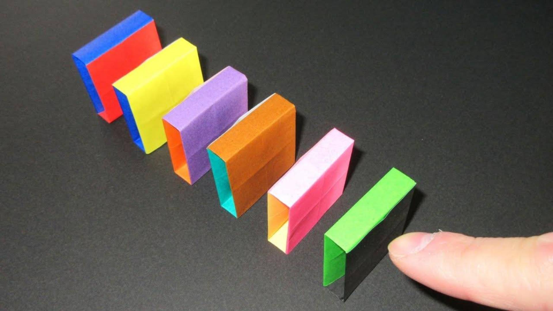 简单折纸多米诺骨牌教程!