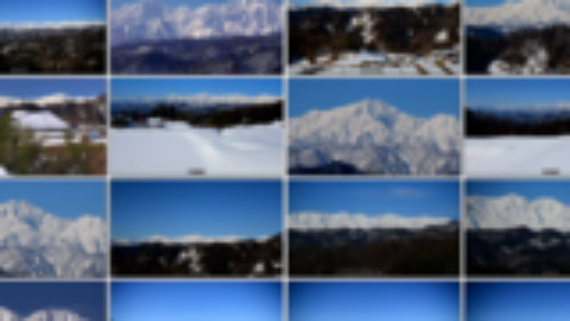 4K 小川村最美丽的冬天风景