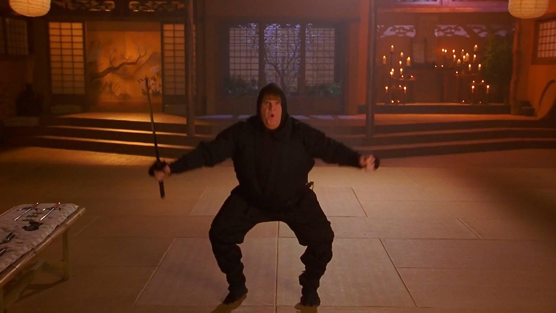 忍者体重严重超标,忍者法术都藏不住自己,一部搞笑动作电影