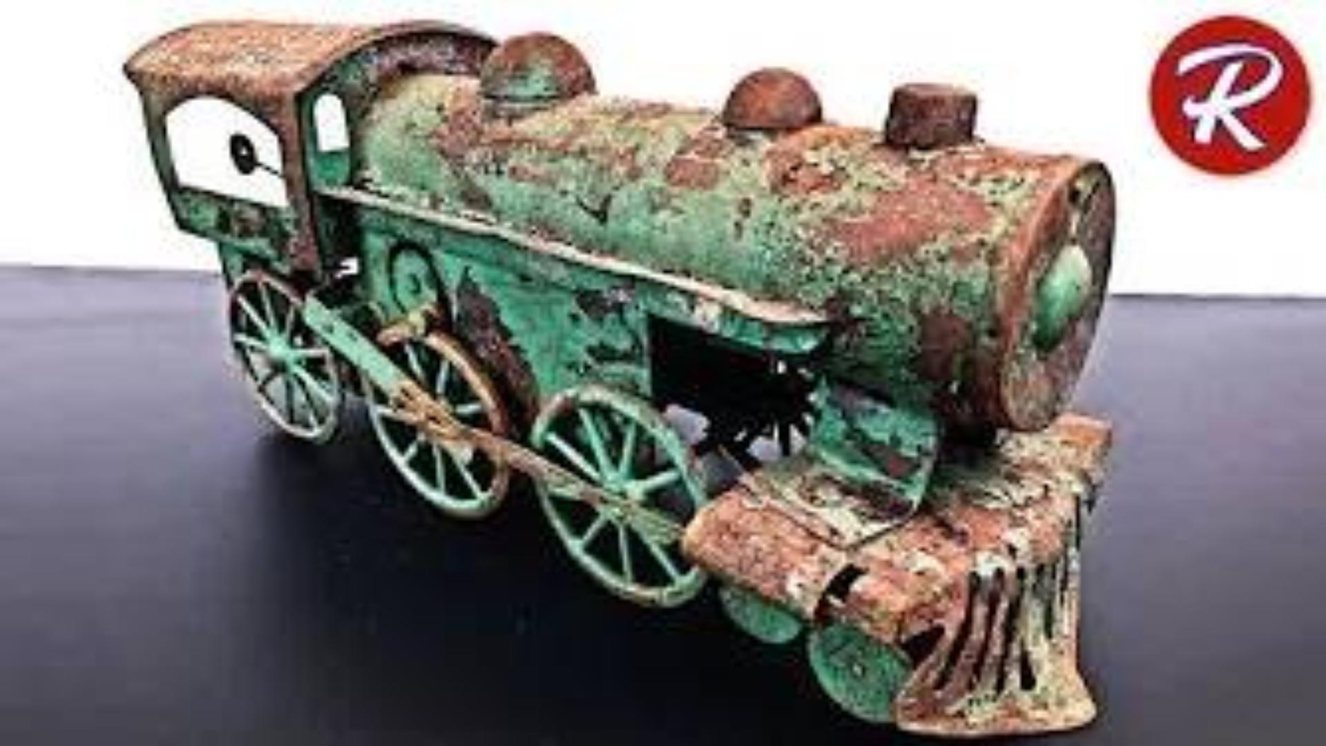 【翻新系列】翻新100年前生锈的火车玩具