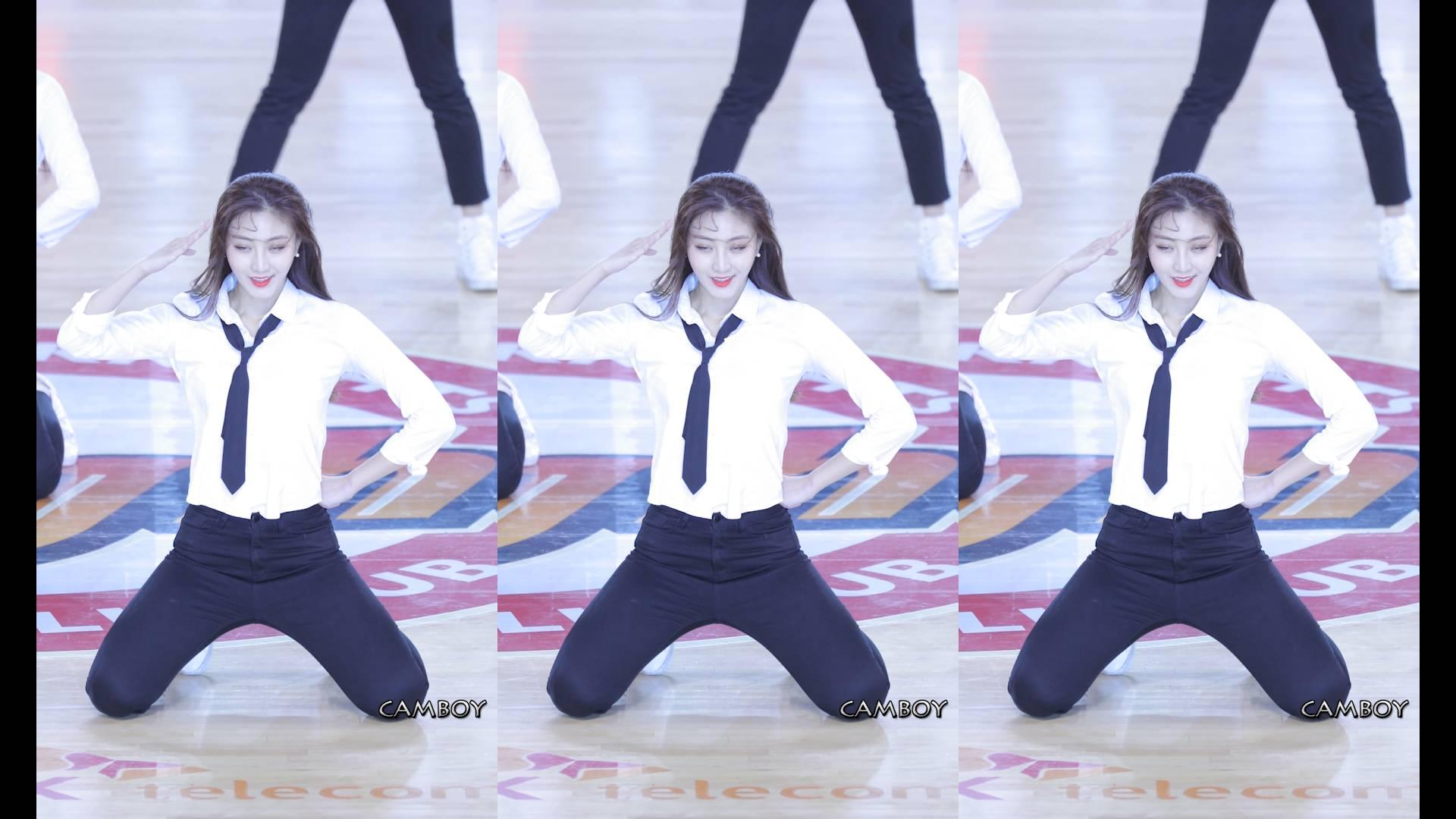 韩国美女啦啦队热舞真是好看