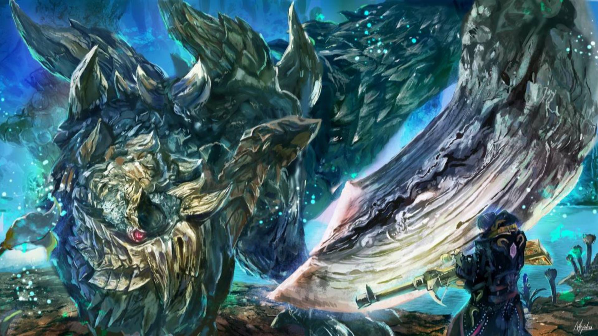 【怪物猎人世界冰原】 斗技场双人对居硫斩龙