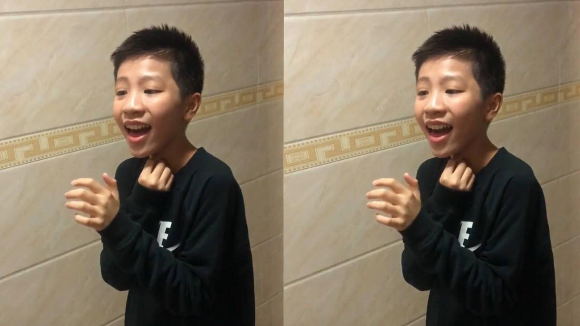 最近男孩清唱《赤伶》火了,唱歌视频获213万赞,网友:实力派!