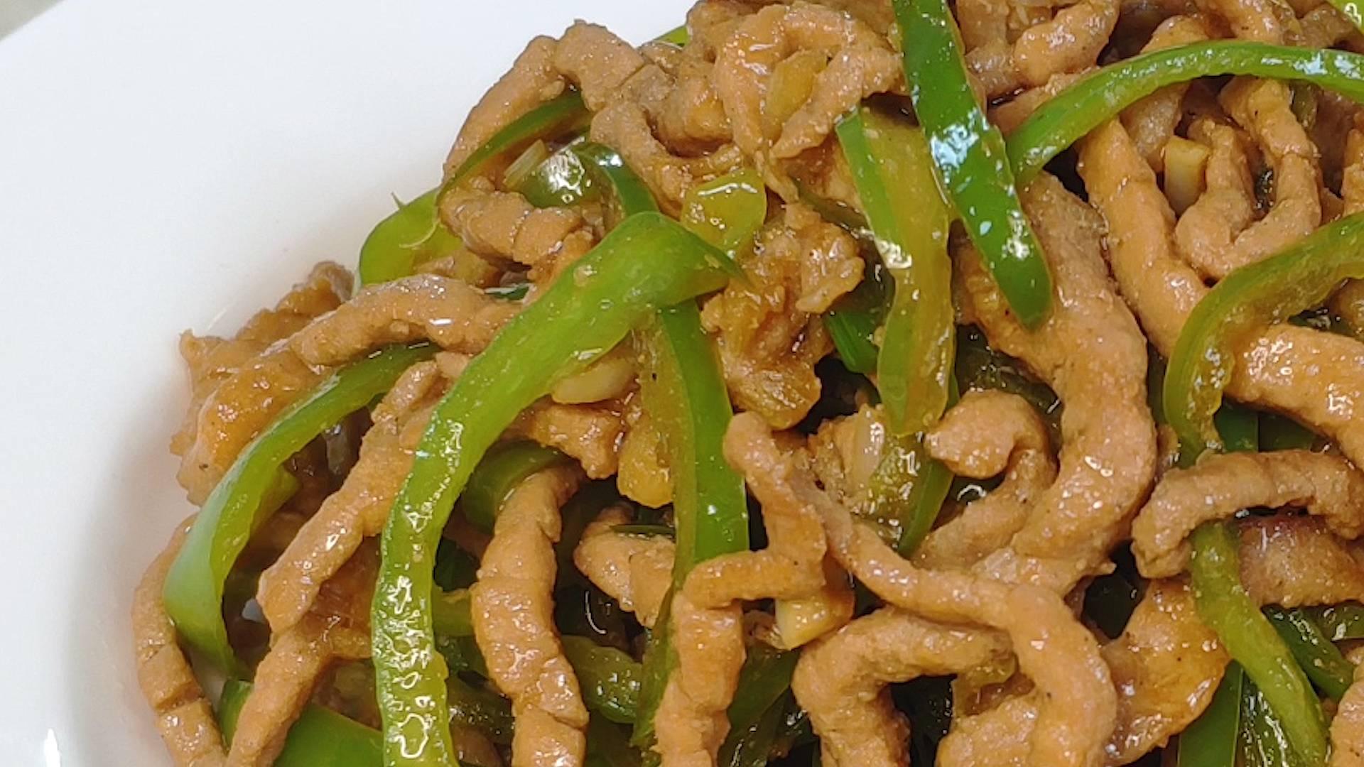 家常青椒肉丝的做法,在家做出饭店的味道