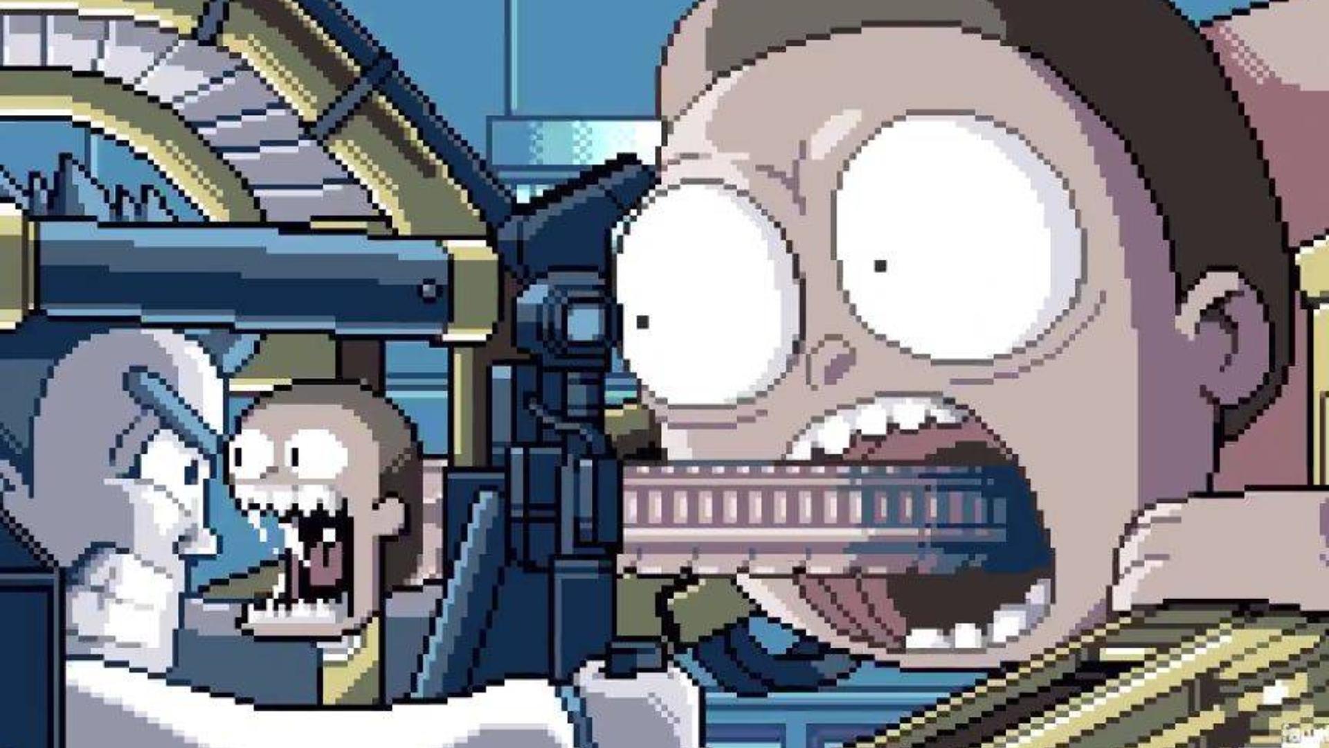 【瑞克和莫蒂】宇宙频道 像素动画