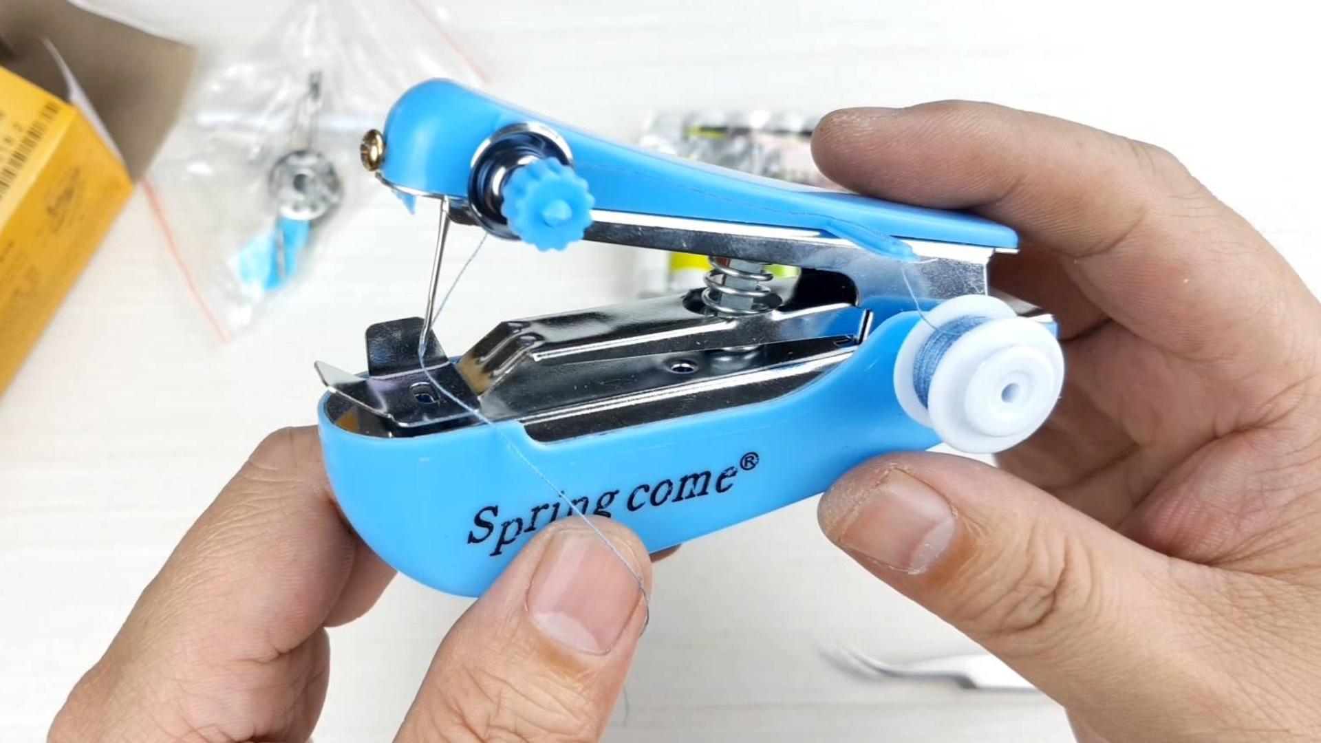 手持缝纫机的机械结构和工作原理,用它可以自己在家做牛仔裤吗?