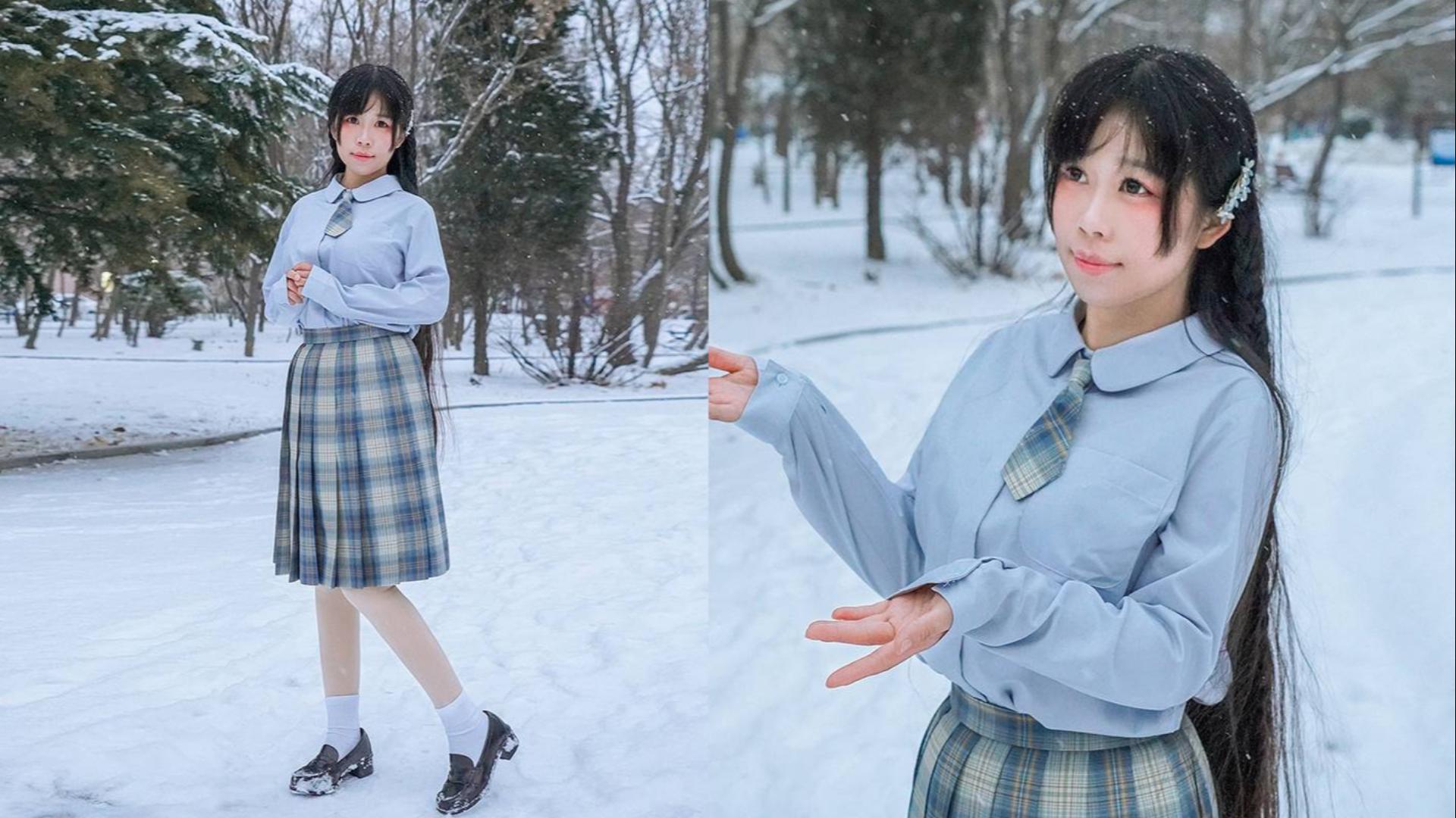 【少少】南方妹见到大雪了!!❀白猫先森❀元宵节快乐