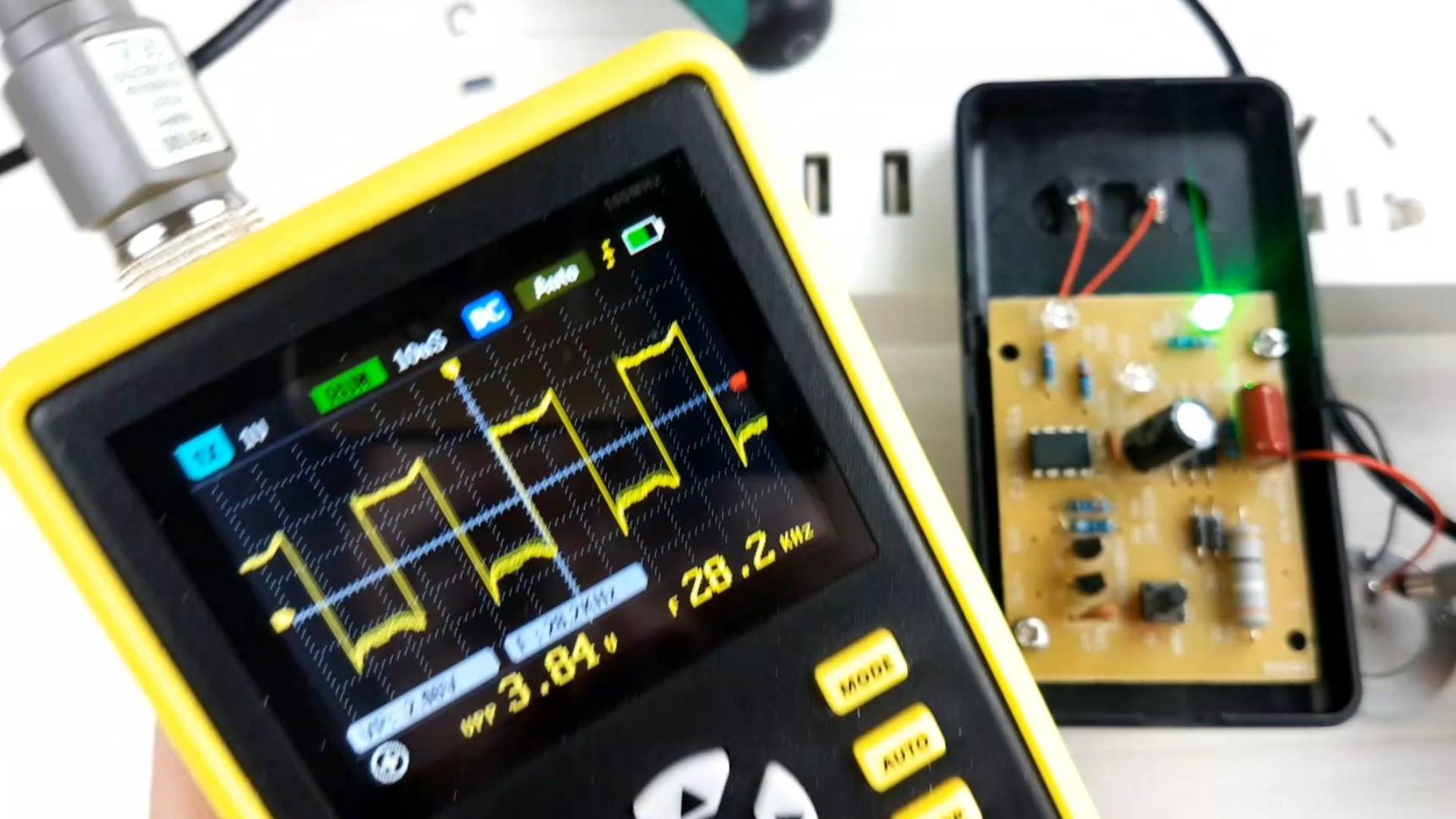 超声波驱鼠器,拆开用示波器量波形,站在老鼠的角度分析是否管用