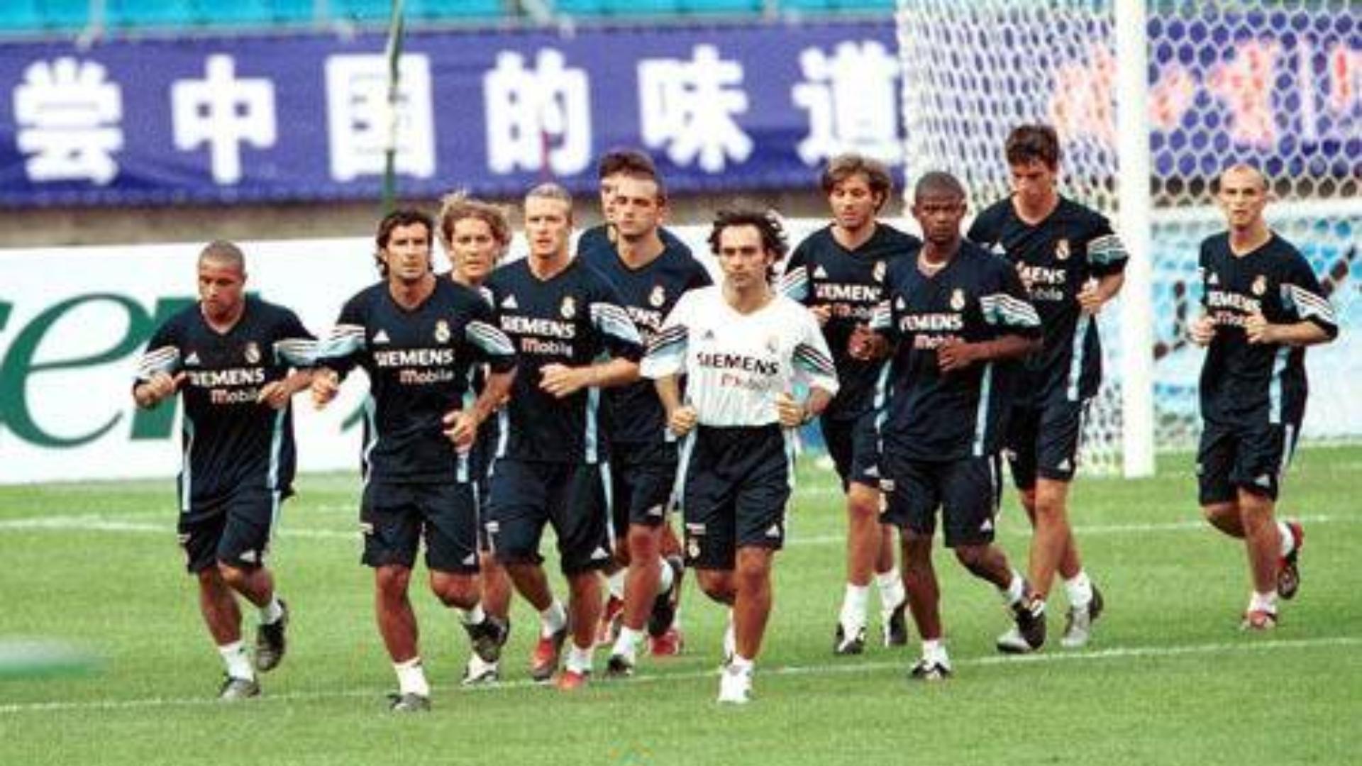 2003年皇马亚洲行交手中国队,当时后卫是怎么防大罗的?