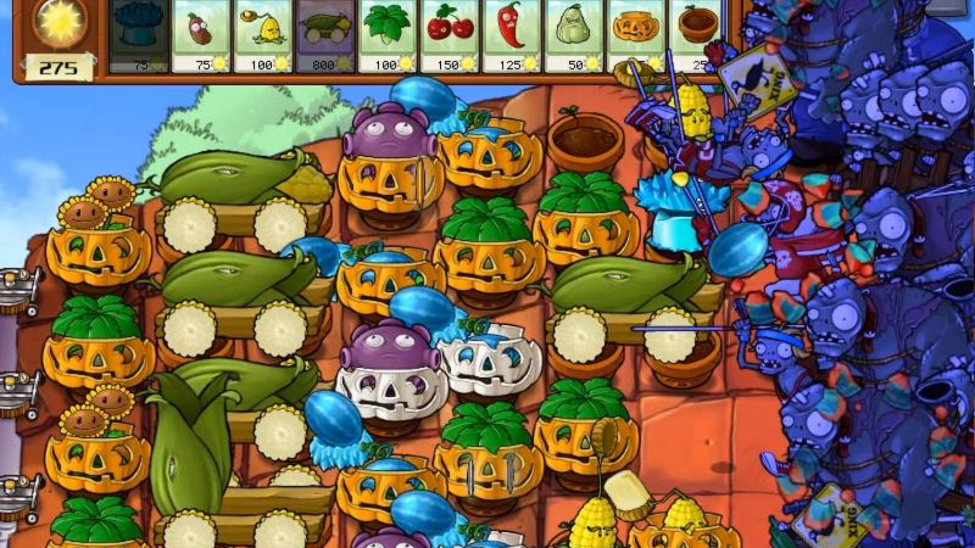 植物大战僵尸:看到敌人这样的阵势,我只想努力死的好看点