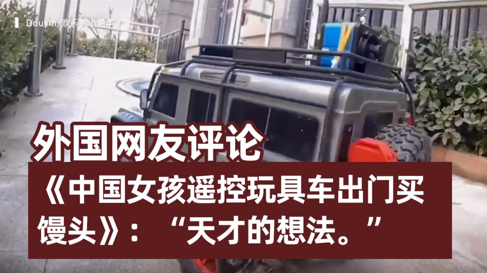 外国网友惊叹《中国女孩遥控玩具车出门买馒头》:天才的想法