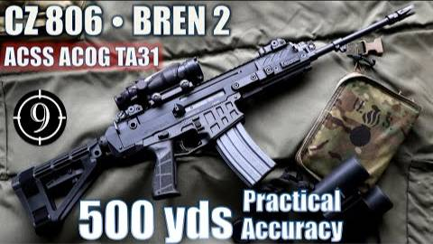[9-Hole Reviews]CZ806步枪500码精准射击挑战