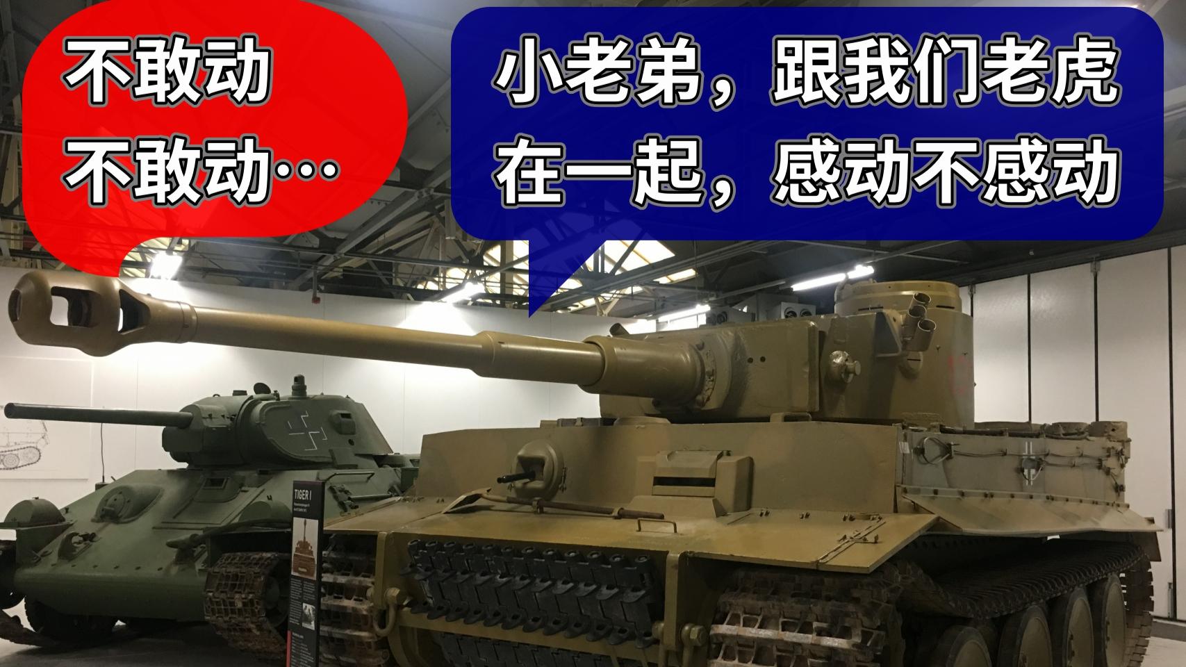 "UP主带你近距离欣赏博文顿坦克博物馆的""虎区"":虎式、虎王和猎虎"