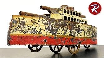 翻新修复100年前的生锈战舰玩具