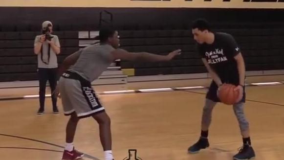 美国高中生篮球水平如何?来看看美国高中生的超强对决!