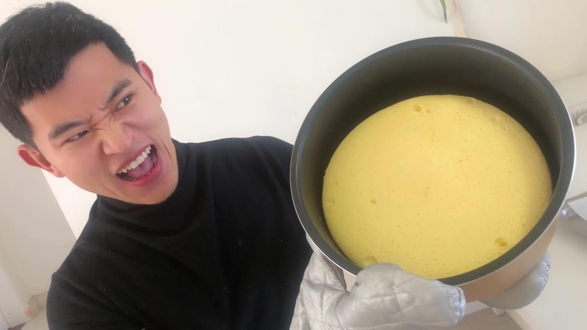 跟网上学的电饭锅蛋糕真的好吃吗?居然真的成功了!