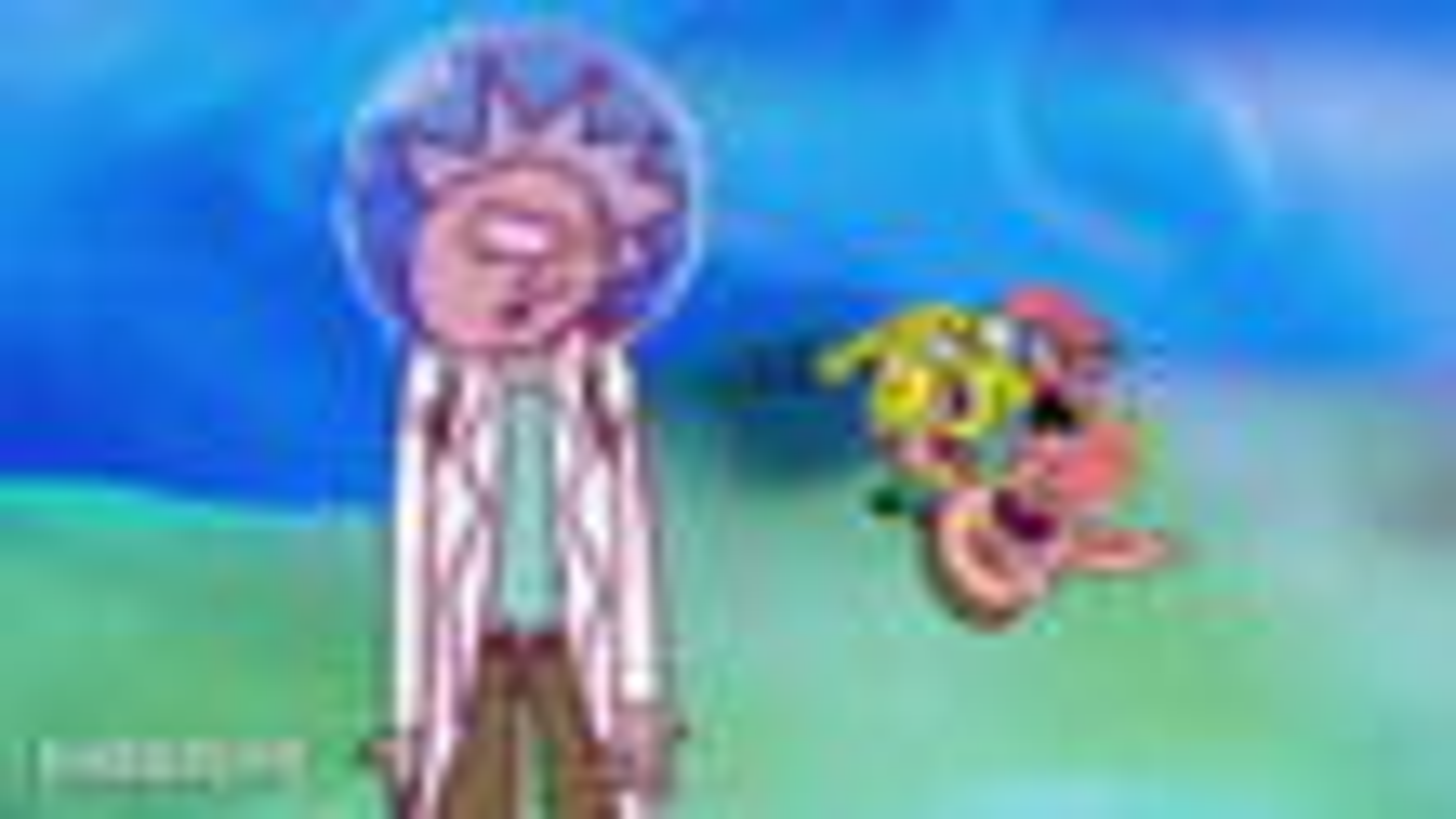 当瑞克和莫蒂遇上海绵宝宝和海贼王:瑞克和莫蒂跨现实维度开场动画