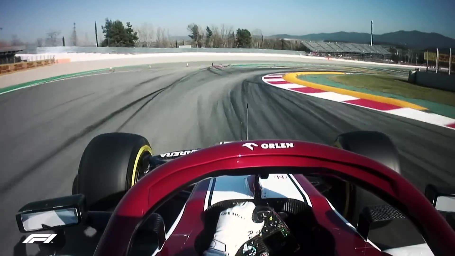 F1 2020巴塞罗那冬测DAY 2,kimi最快,梅塞德斯亮出黑科技DAS系统