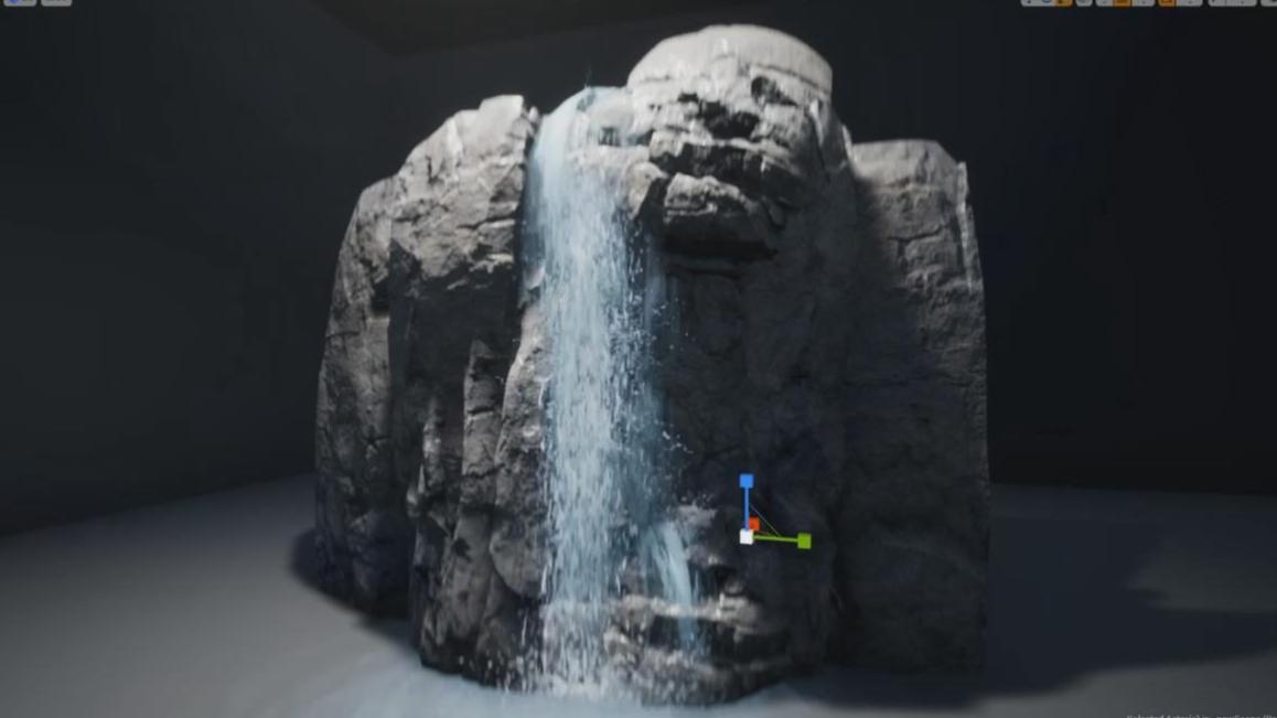 【UE4】瀑布游戏特效工作流程制作教程(中英双字)