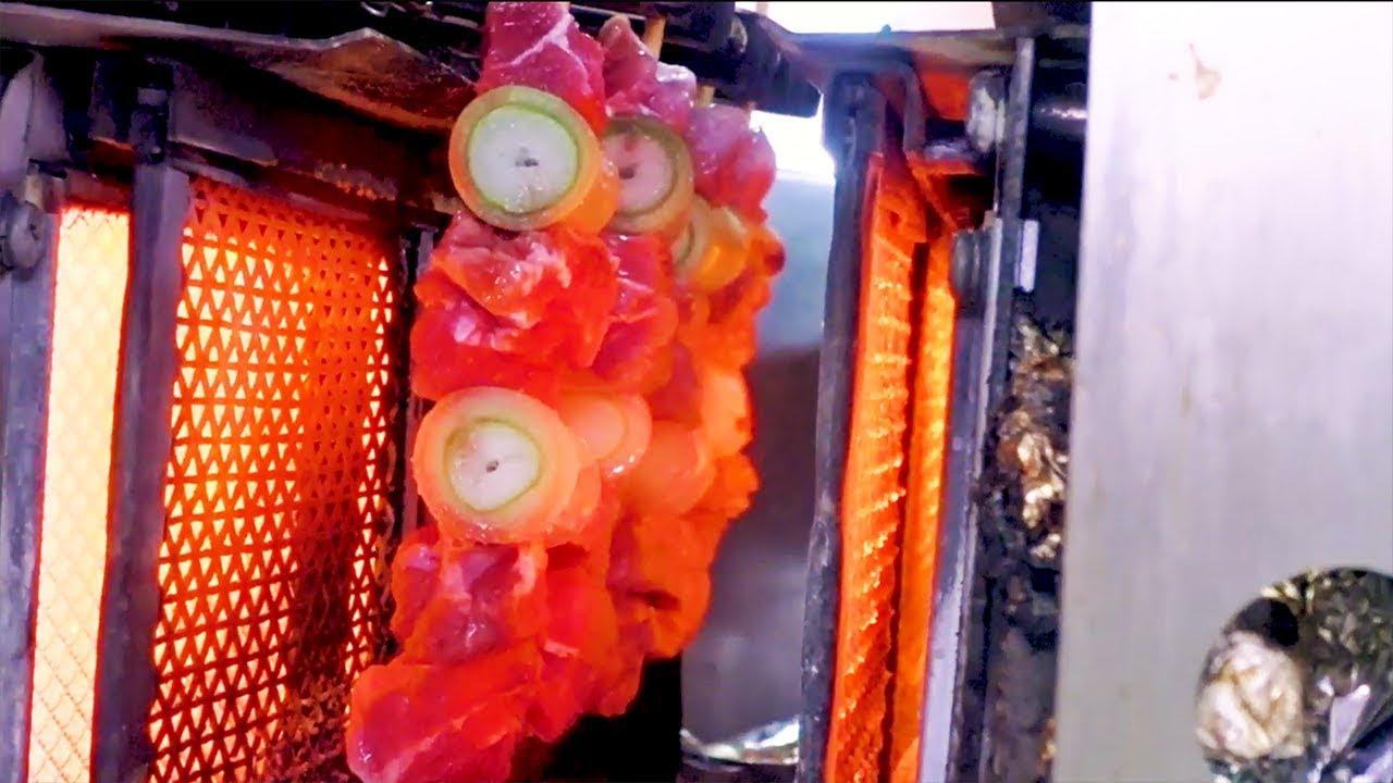 【日本街头美食】 - 烤鸡肉串工厂