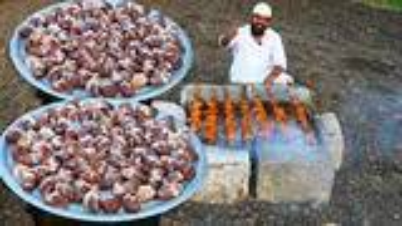 印度人如何吃羊心你见过吗 ? 100只羊心看看村民怎么吃 !