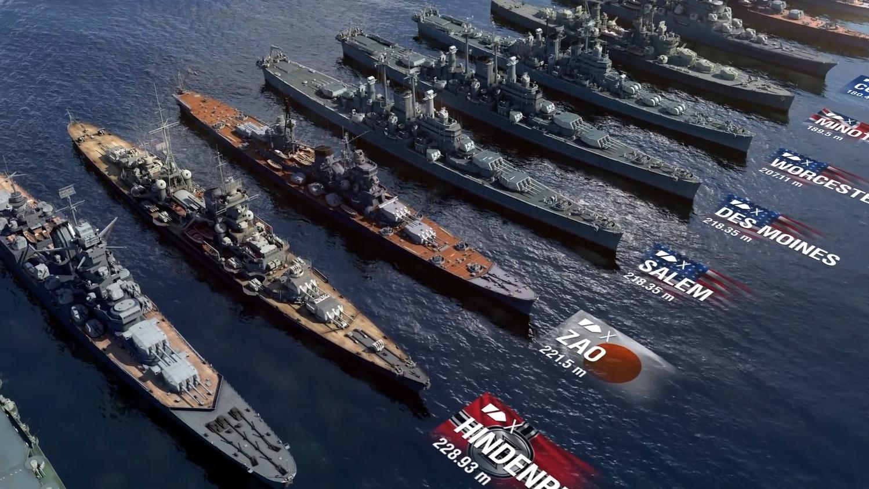 【战舰世界】二战舰艇大小对比