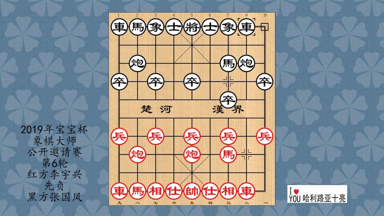 2019年宝宝杯象棋大师公开邀请赛第6轮,李宇兴先负张国凤