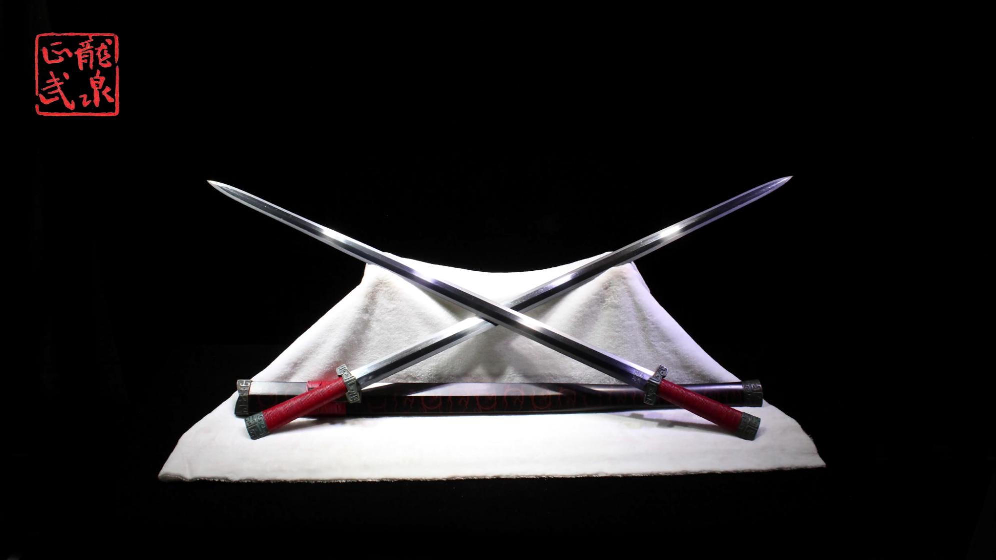 龙泉铸剑师周正武龙泉剑之光复级刘备双股剑(1)