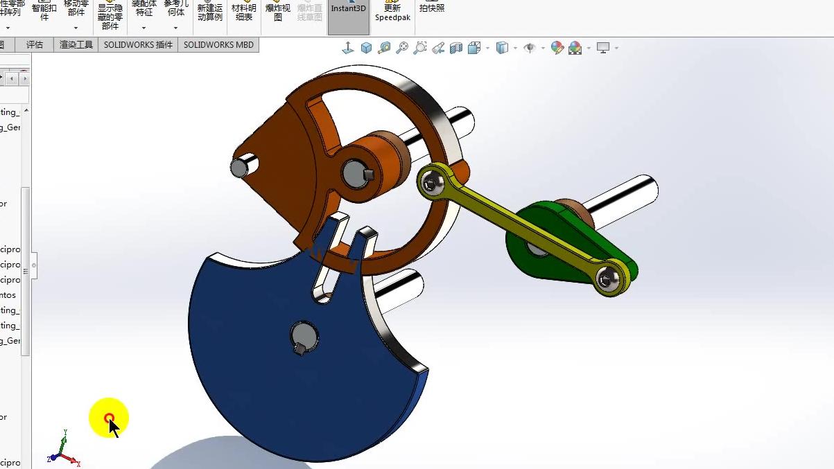 非标机械之轮轴配合动画