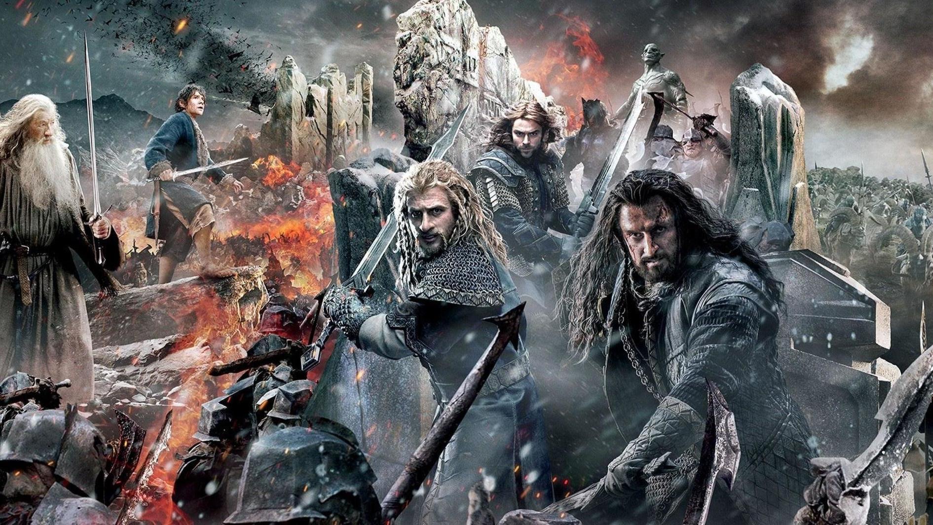 【阿斗】爷爷山丘之王被杀,孙子带着11个矮人靠霍比特人偷宝石夺回老家,史诗巨作《霍比特人》