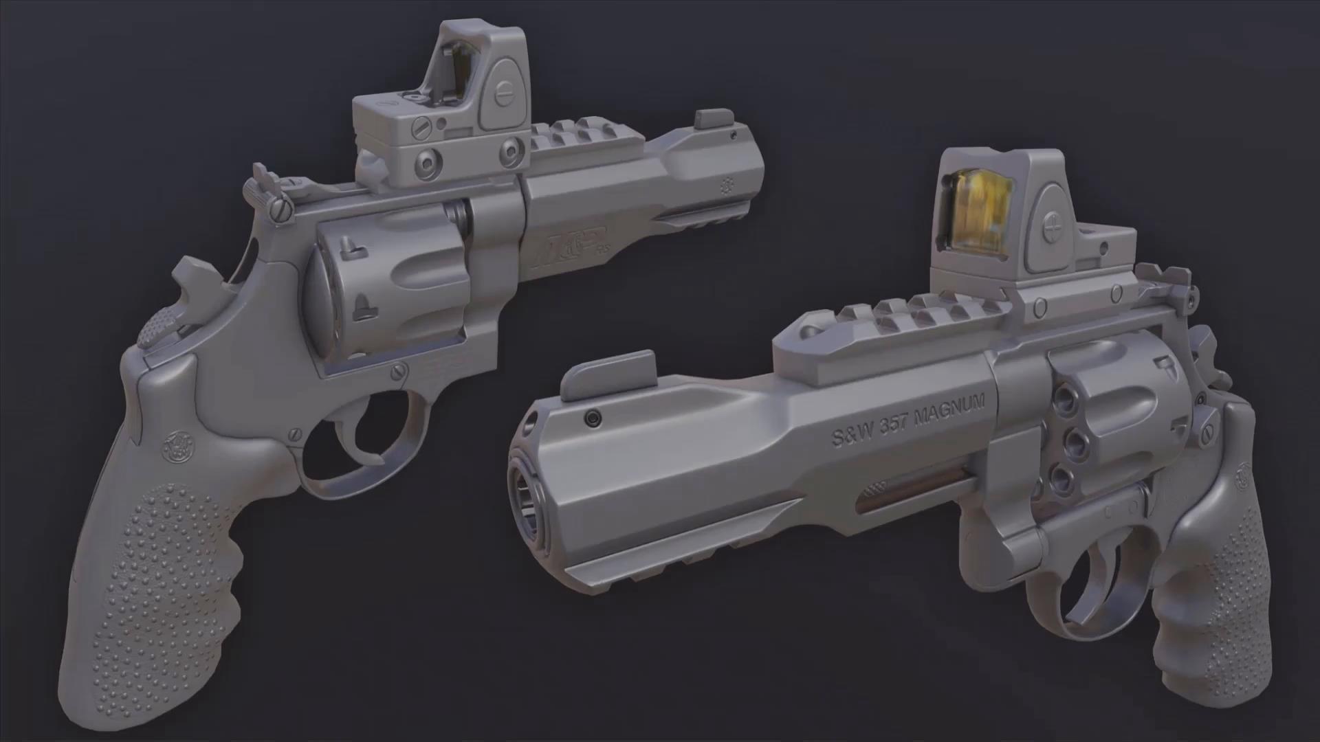 【Maya】Maya与SP游戏武器道具完整实例制作教程(中英双字)