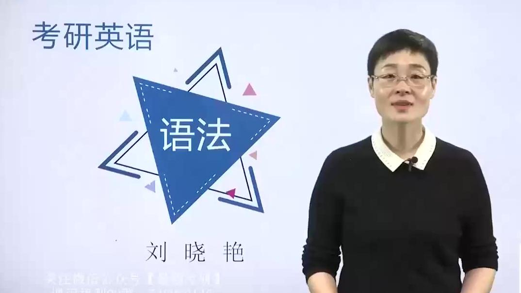 2021考研英语 语法长难句 基础班 刘晓燕老师 65课时