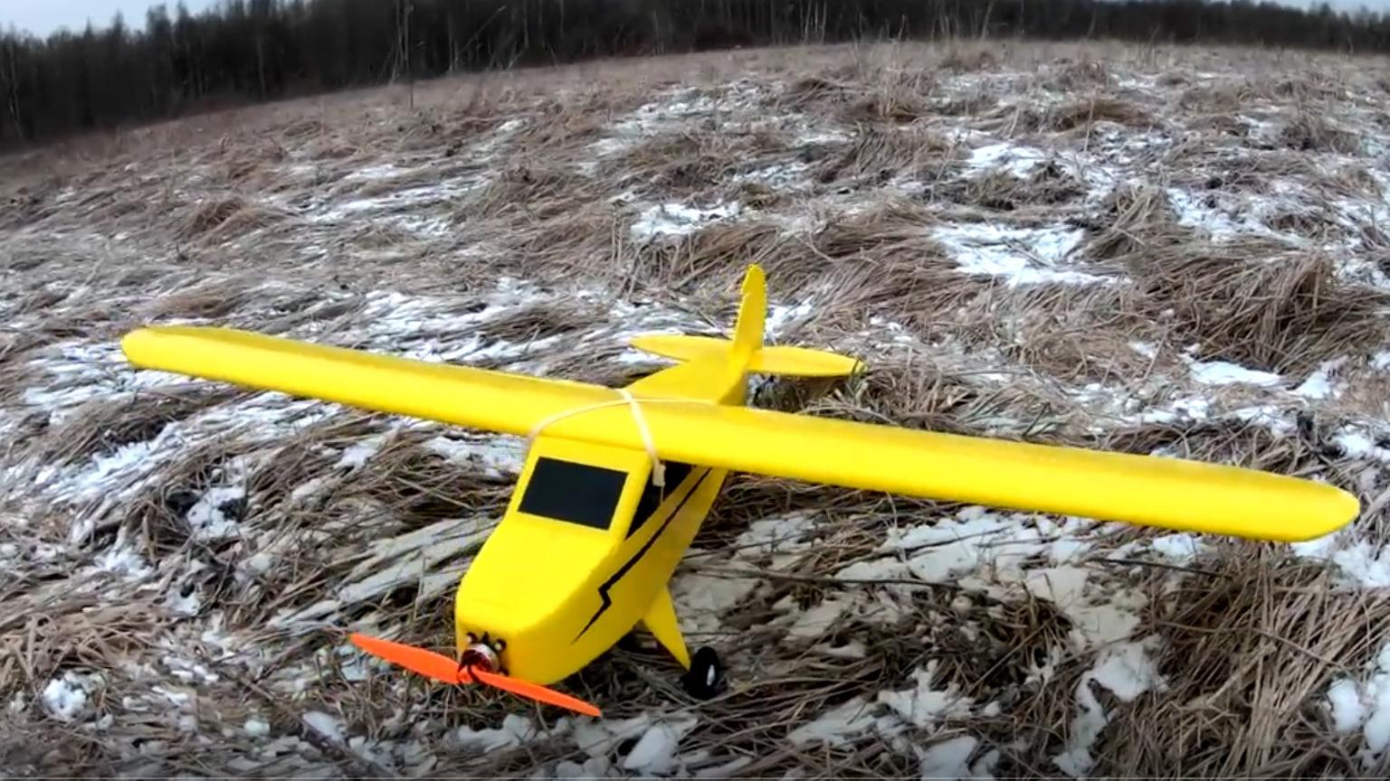 用纸板制作遥控飞机制作过程 J-0216 DIY