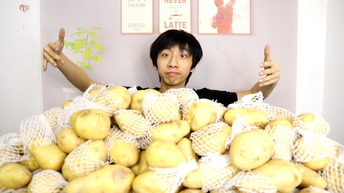 100斤土豆可以做出多少土豆淀粉?毅力小伙花了整整五天才做完