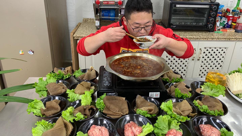"""280买7斤毛肚,2斤脑花,1袋小酥肉,做""""重庆火锅""""一次吃个痛快"""
