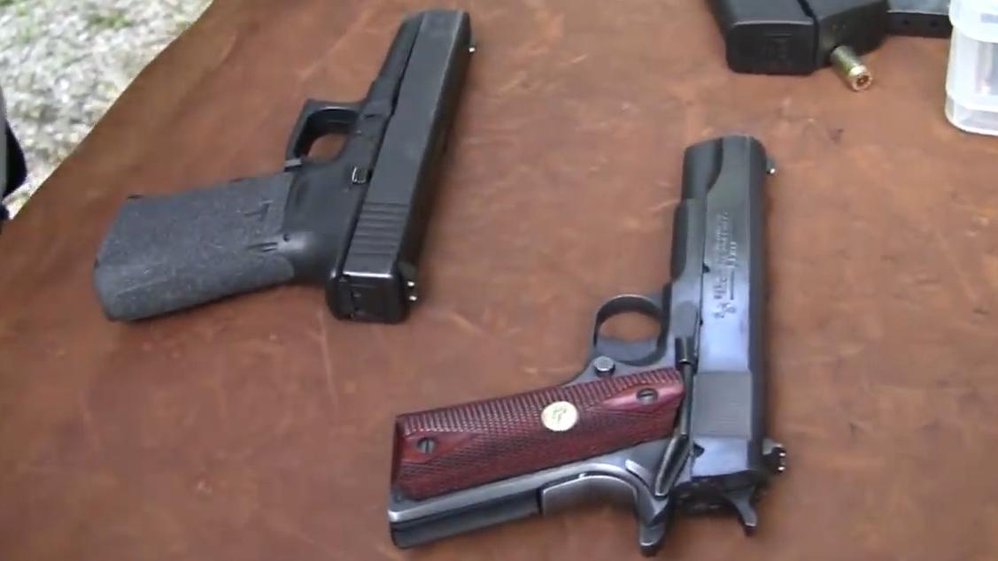 Glock与M1911对比评测