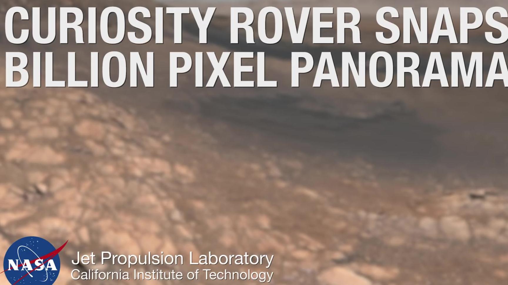 NASA出品:高达十八亿像素的壮观火星全景图