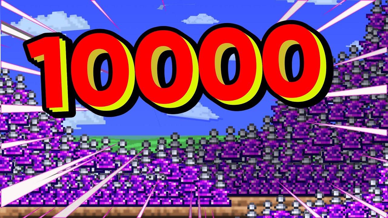 在Terraria中使用10000瓶传送药剂. 会发生什么?