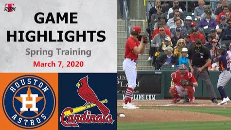 美职棒|休士顿太空人 vs 圣路易红雀 2020新春训练赛3-7
