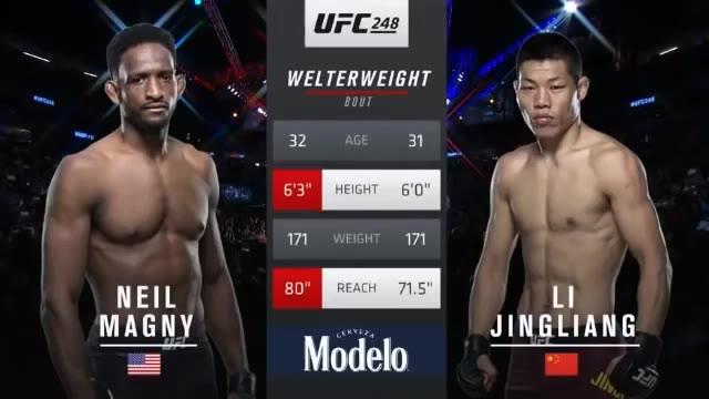 UFC 248 李景亮 vs 马格尼
