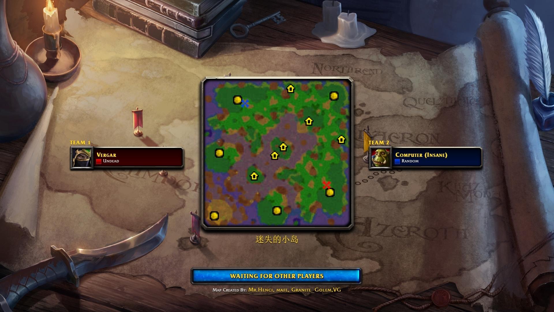 魔兽争霸3重制版 自制地图 迷失小岛 地图演示 无脑赢疯狂电脑
