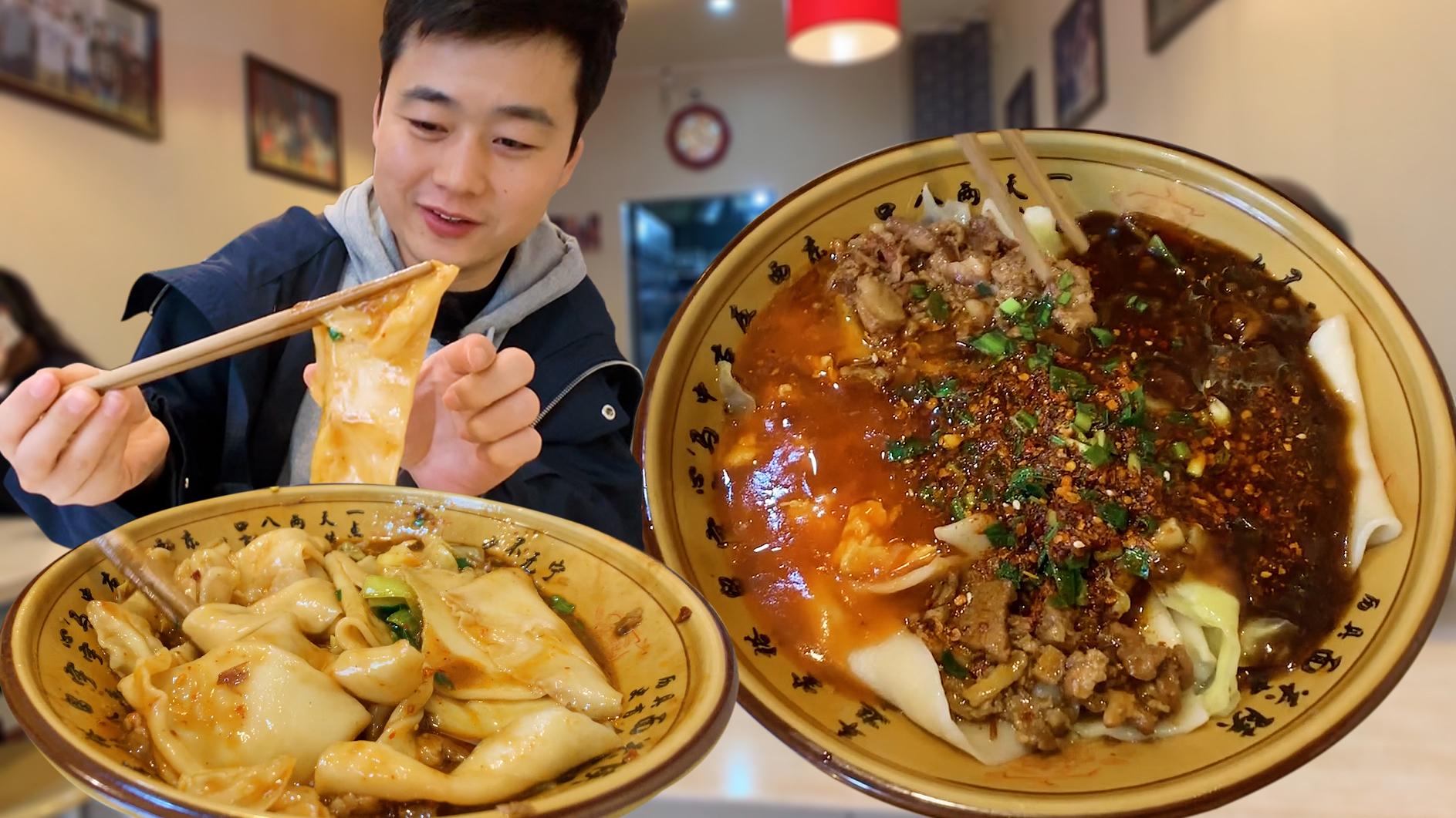 西安名气很大的小面馆,明星常来吃特色biangbiang面,门面不起眼
