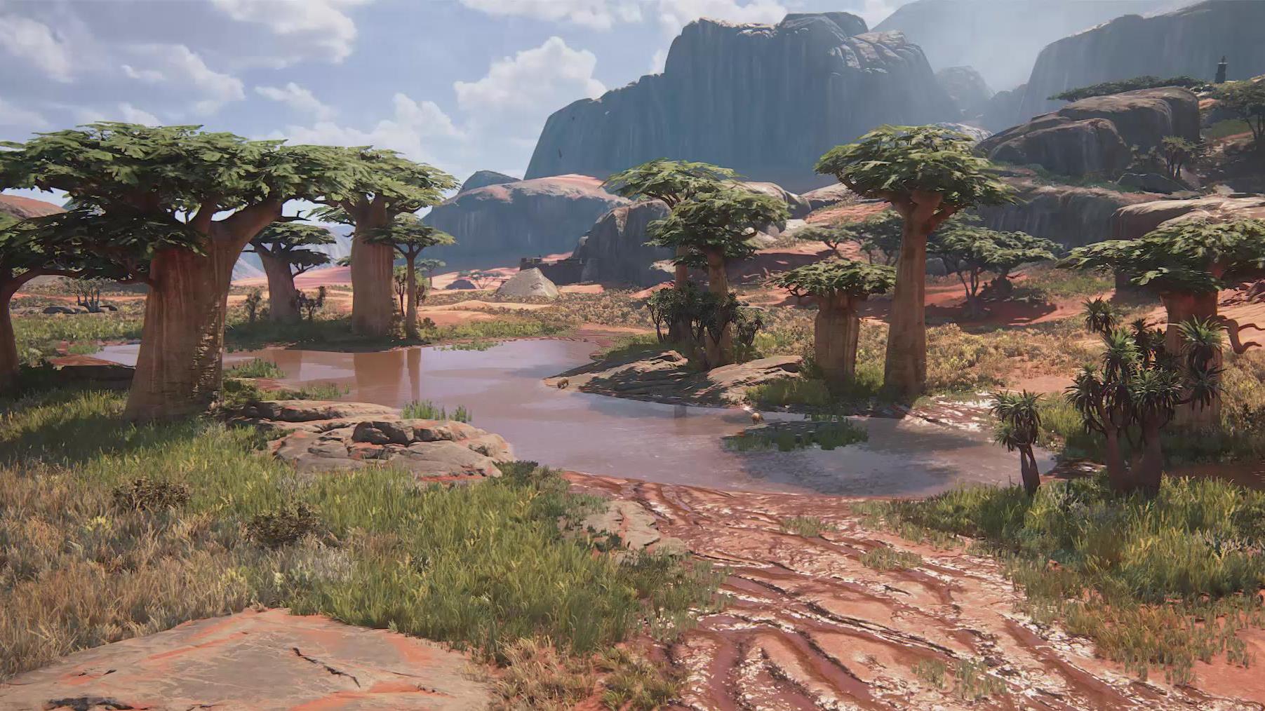 【UE4】游戏森林山脉自然场景实例制作教程(中英双字)