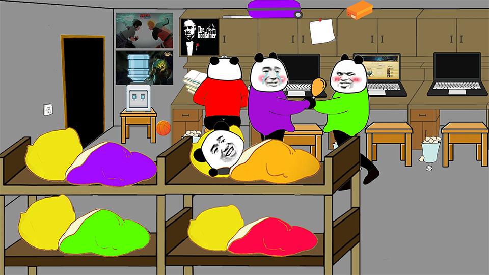 【沙雕动画】在男生宿舍吃零食方法指导!【A等生】【次元】