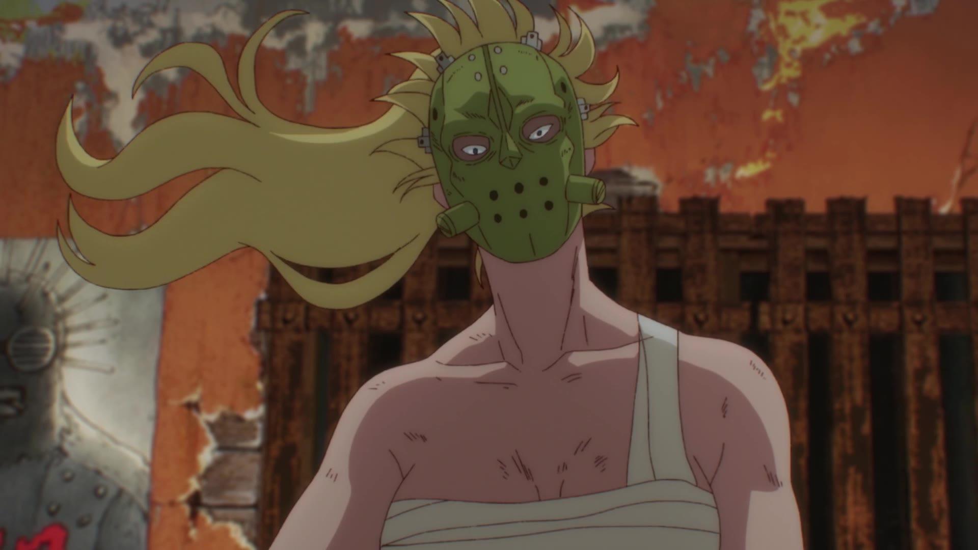 《异兽魔都Dorohedoro》第10集生肉——带上面具的二阶堂演出太帅了!
