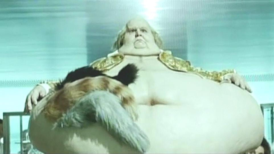 肥胖男被猫掏空身体,儿子发现后把他做成雕塑,闻名世界