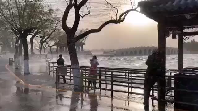 北京大风 你们感受一下