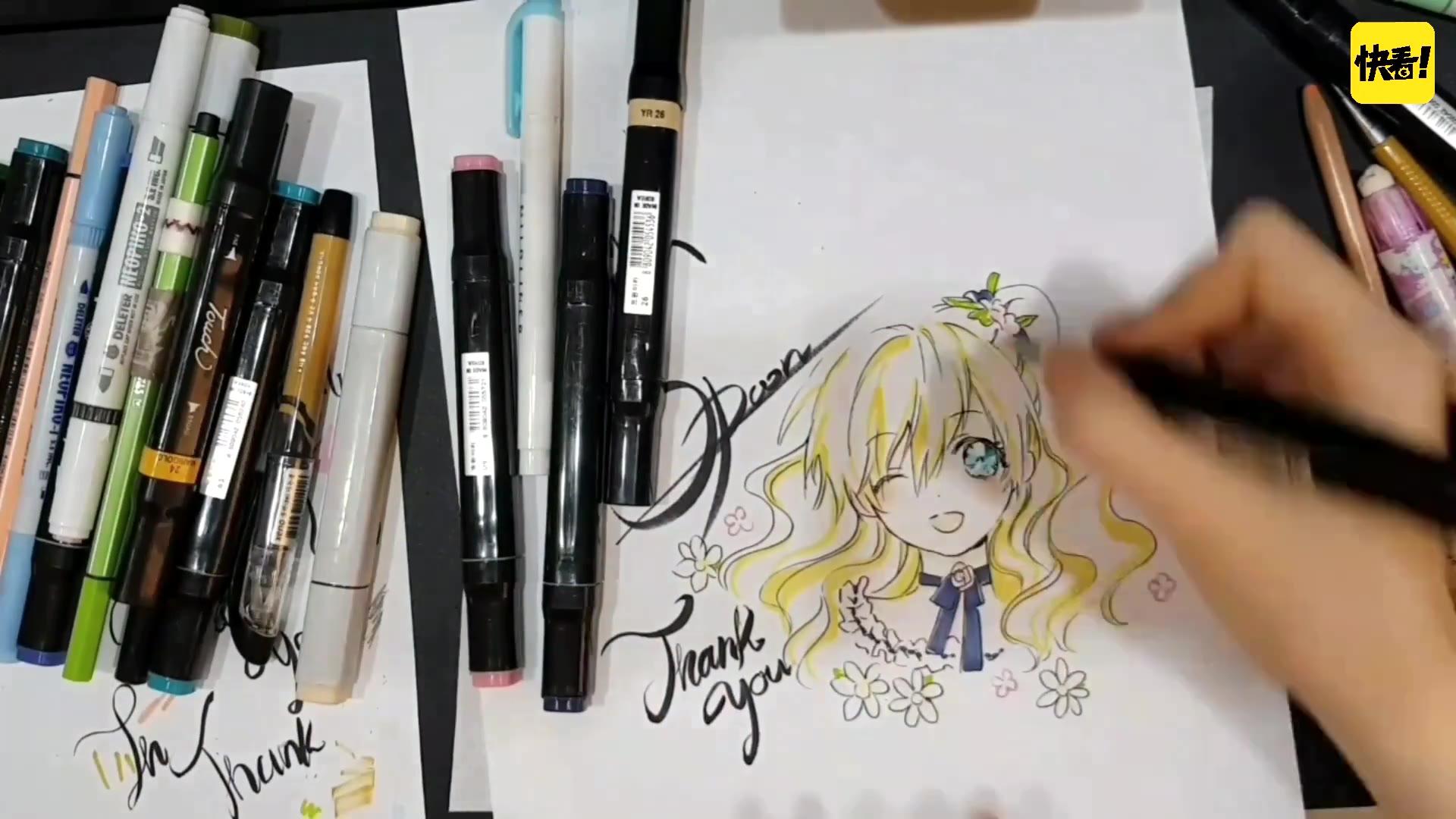 《某天成为公主》画师Spoon老师绘图视频